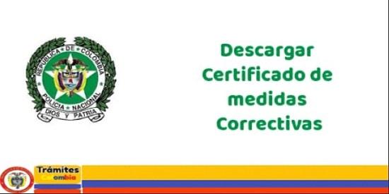 descargar certificado correctivas